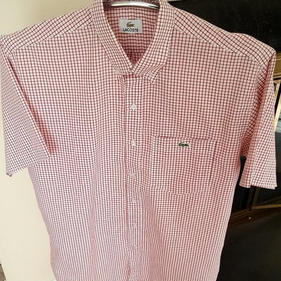 ead1940a47 Lacoste Men's Short Sleeve Button Down Shirt